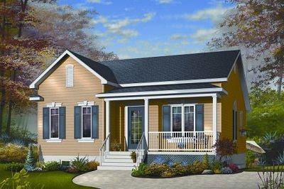 Plano de casa de dos habitaciones en 100 metros cuadrados