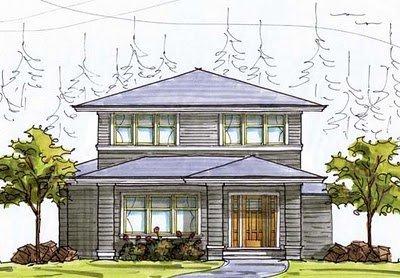 Plano de casa de 2 pisos, 3 habitaciones en 183 metros cuadrados