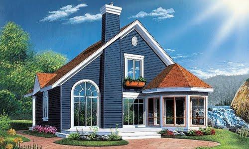 Plano de casas gratis de dos pisos y tres habitaciones