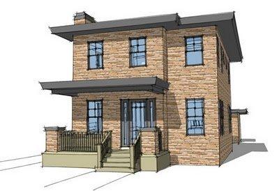Planos de casas gratis de 2 Pisos, 3 habitaciones en 150 metros cuadrados