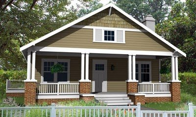 Planos de una casa gratis en un solo piso con tres habitaciones