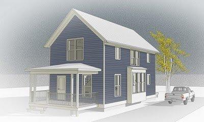 Planos de Casas gratis de 2 pisos, 3 dormitorios en 127 metros cuadrados