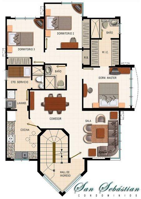 Planos de departamentos gratis de 4 dormitorios – Condominio San Sebastian