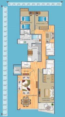 Planos de departamentos gratis en 155 metros cuadrados