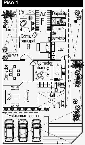 Planos de casas gratis ubicados en una esquina