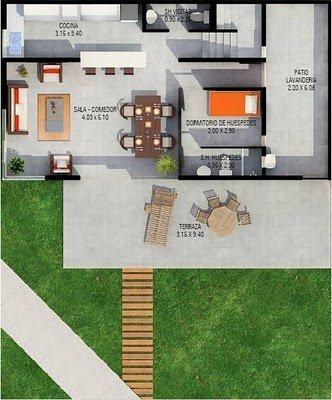 Planos De Casas Gratis De Dos Pisos Y Una Terraza Planos