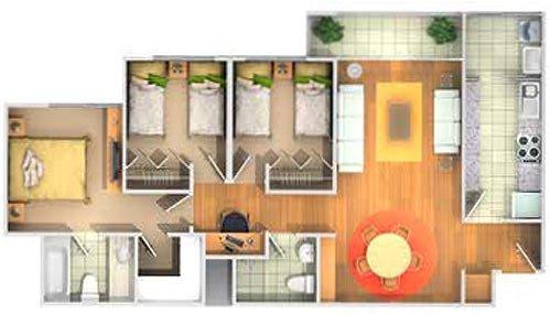 Departamento pequeño en 80 m2