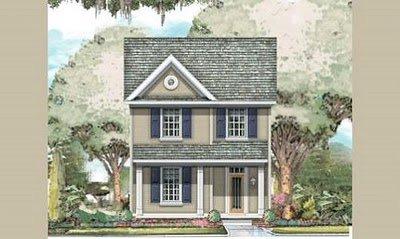 Plano de casa de dos pisos, tres Dormitorios y 170 metros cuadrados