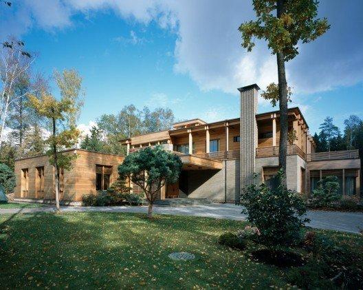 Planos de casa en 1800 m2 ubicada en Moscu
