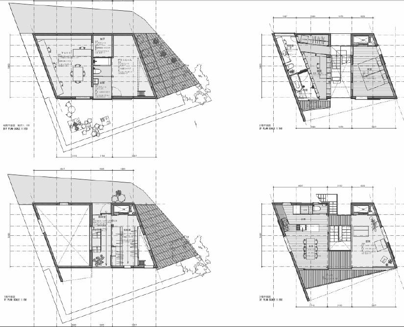 Planos de la casa Tato en japon