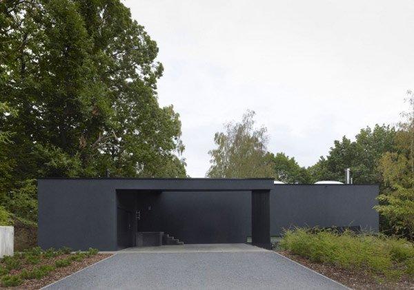 Planos de una casa con fuertes y modernos trazos, La residencia Werken en Bélgica