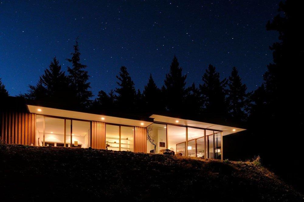 Plano de una casa en el bosque deseado por más de 50 años