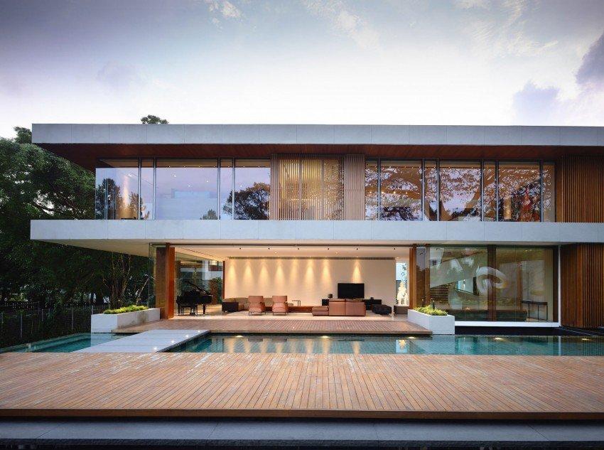 Planos de residencia moderna con un carácter luminoso en Singapur: Casa 65BTP