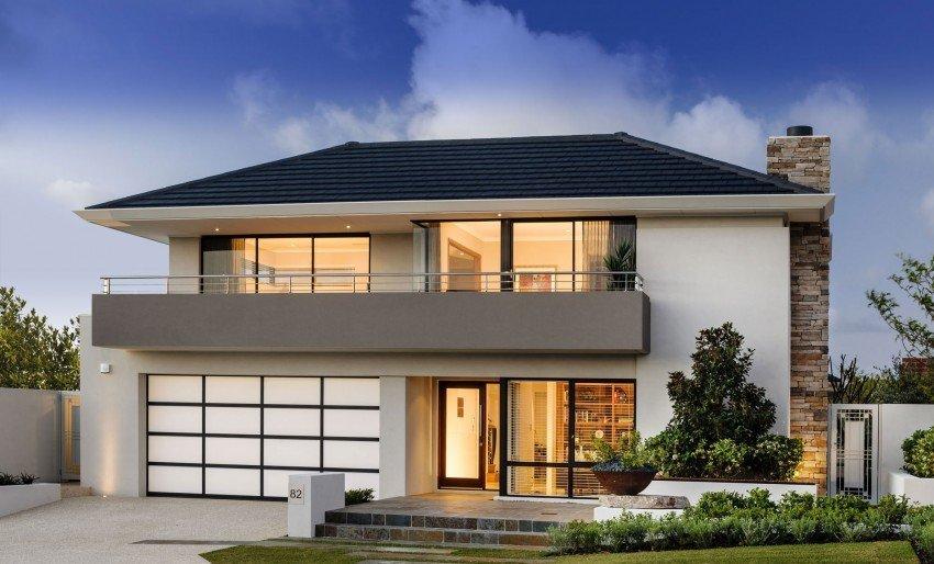 Planos de una casa con  diseño moderno mejorada por elementos de sorpresa