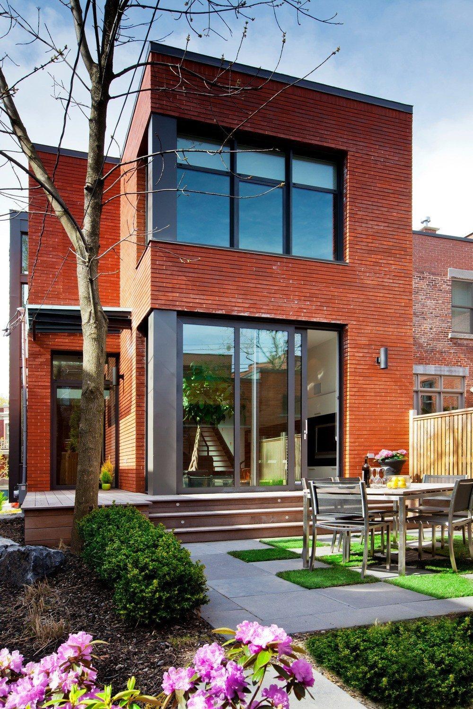Plano de arquitectura sobre la asimetría:  Casa Landsdowne en Montreal