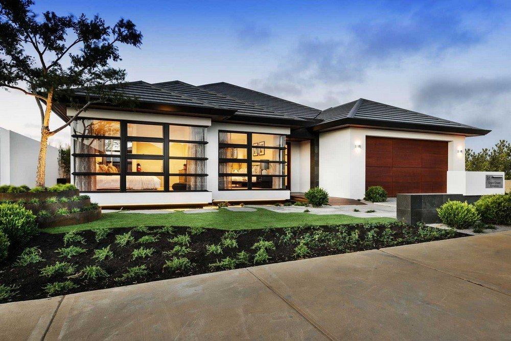 Planos de una casa moderna de un piso con estilo japones: La Casa Azumi