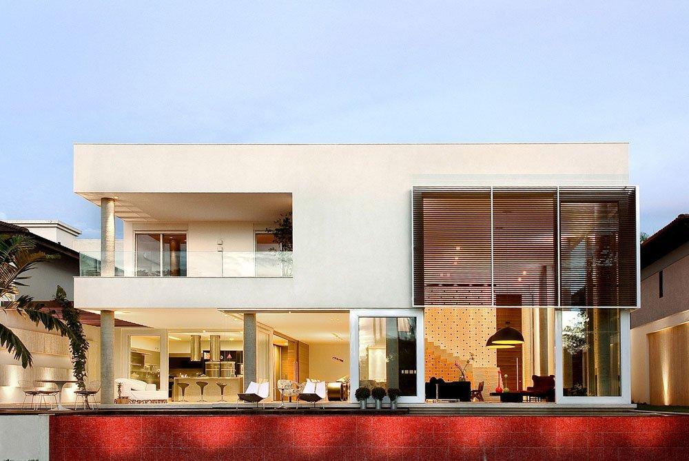 Planos de una vivienda moderna con arquitectura brasileña expresiva e inspiradora Casa Capital