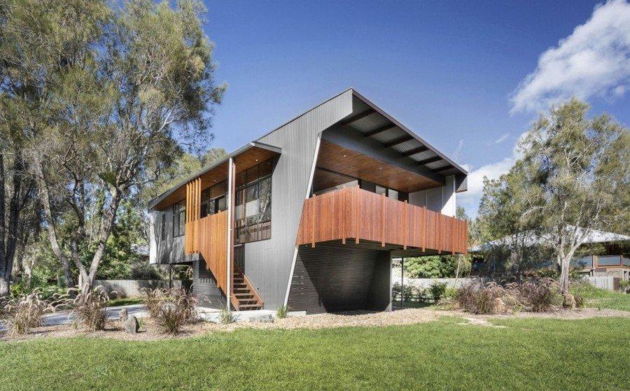 Planos de una casa de playa sostenible en Australia