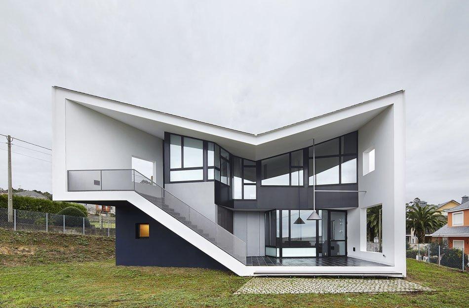 Planos de una Moderna Casa de vacaciones con vistas al campo Gallego
