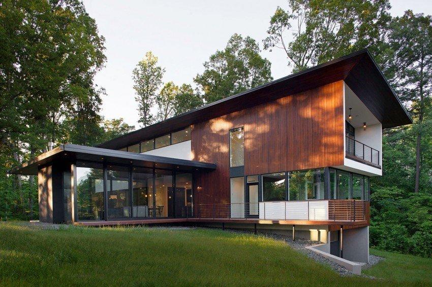 Planos de una casas con diseño japonés en Carolina del Norte
